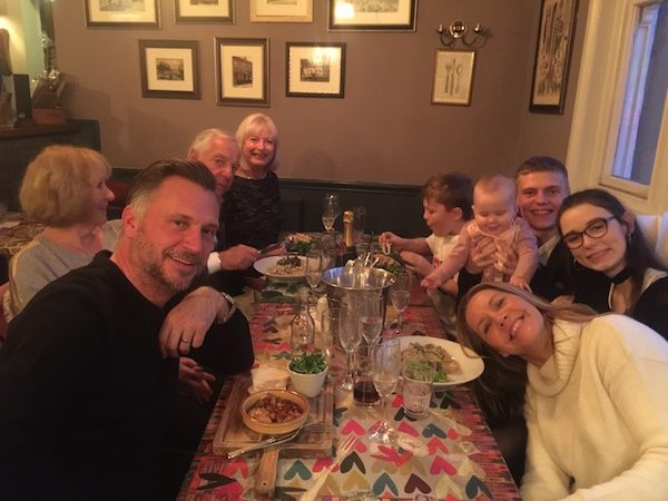Family meal at Manners
